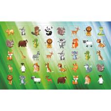 Наклейка А6 МИНИ животные