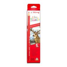 Трехгранные, набор 6 цв., картонная упаковка, европодвес