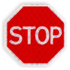 """Значок на пластике """"Знак STOP"""" D 50 мм"""