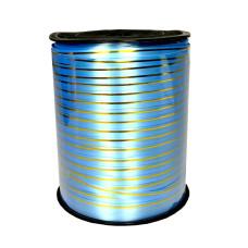 Лента золотая полоса бобина, голубой