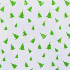 Пакет прозрач.+ рис.25х35см (100шт.) Новый Год, зеленые елочки
