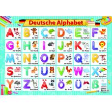 Плакат обучающий А2 немецкий алфавит