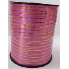 Лента золотая полоса бобина, розовый