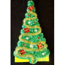 Панно новогоднее Ёлочка зелёная 350 мм