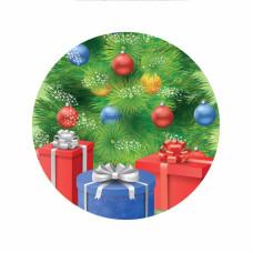 Магнит D56 мм елка с подарками