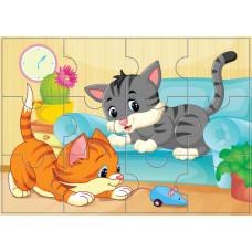 Пазлы магнитные А 4 котята
