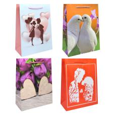 Сумка(пакет) картон 18*24*8см ассорти романтика - любовь в городе
